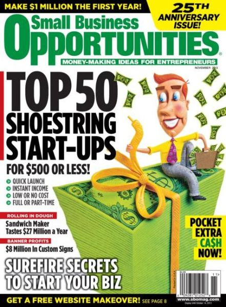 Small Business Opportunities Magazine Subscriptions  Renewals  Gifts