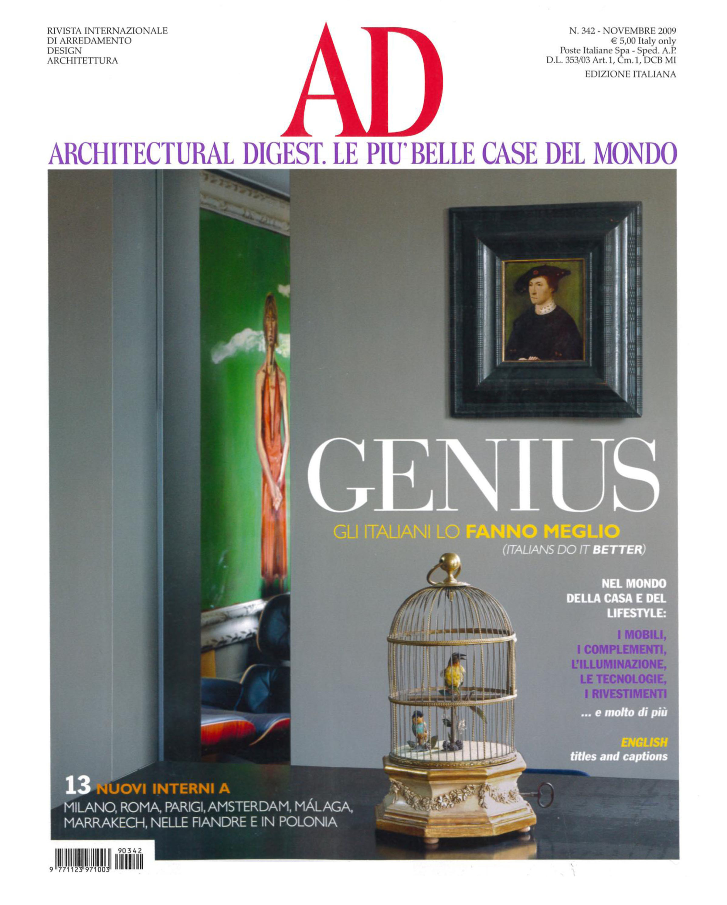 architectural digest italia magazine discount subscription. Black Bedroom Furniture Sets. Home Design Ideas